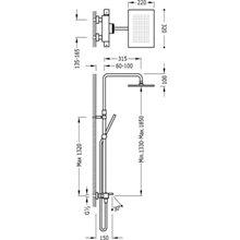 Coluna de banheira-duche termostática TRES SLIM