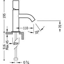 Torneira de lavatório S TUB TRES STUDY
