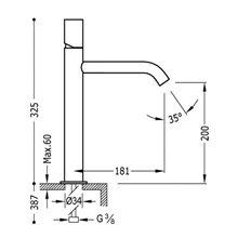 Torneira de lavatório M TUB TRES STUDY