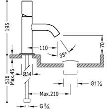 Torneira de lavatório Preta S TUB TRES STUDY