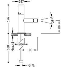 Torneira de bidé Aço TUB TRES STUDY
