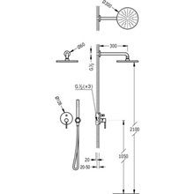 Conjunto de duche Aço de 2 vias TRES STUDY