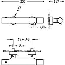 Kit de duche termostático TRES STUDY