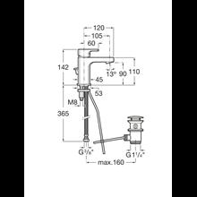 Torneira compacta lavatório descarga automática L90 Roca