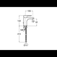 Torneira lavatório com fixador de corrente L20 Roca