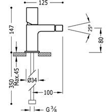 Torneira de bidé de Aço TUB TRES LOFT