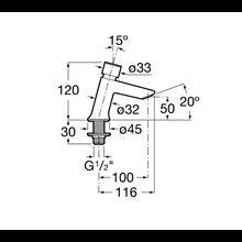Torneira lavatório de pressão Instant ECO Roca