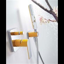 Conjunto de duche Amarelo de 2 vias TRES LOFT