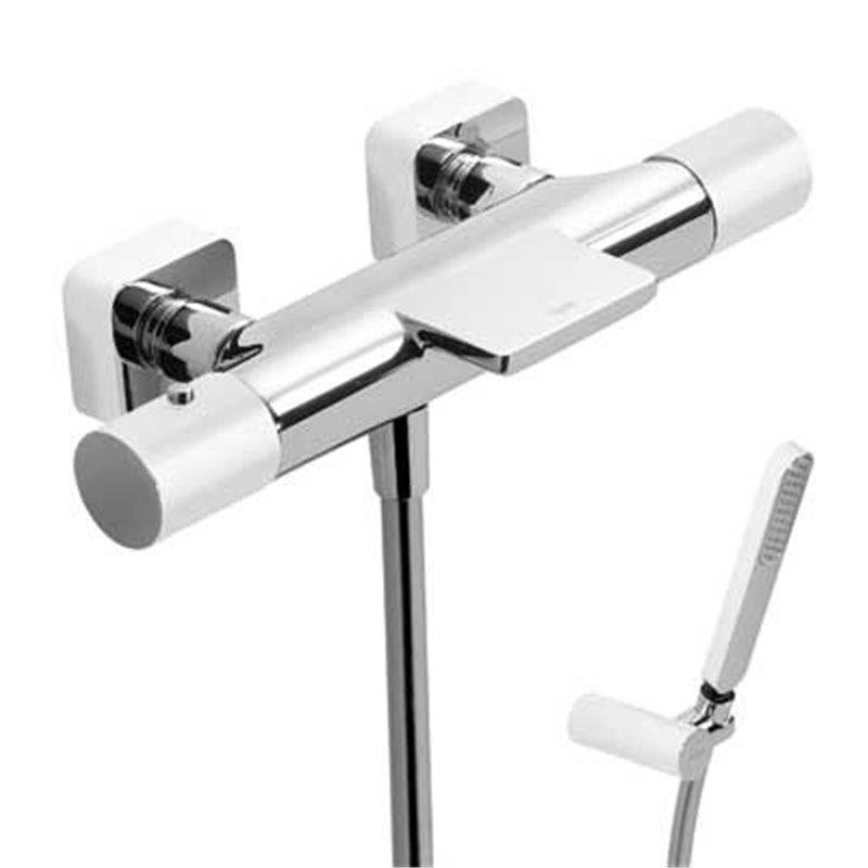 Kit de banheira-duche termostático Cr/Br TRES LOFT