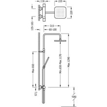Coluna de duche termostática Cr/Am TRES LOFT
