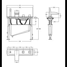 Conjunto banheira-duche termostático encastrar Thesis Roca