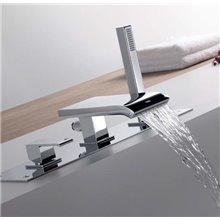Combinação para banheira com cascata CUADRO-TRES