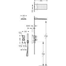 Kit de duche termostático 2 vias Compact CUADRO-TRES