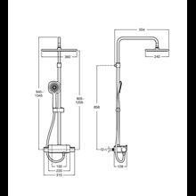 Coluna duche termostática Square Deck Roca