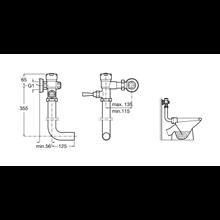 Fluxómetro com tubo e alavanca Aqua Roca