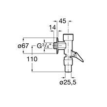 Fluxómetro com alavanca Aqua Roca