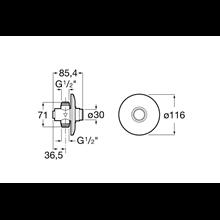Fluxómetro para encastrar Instant Roca