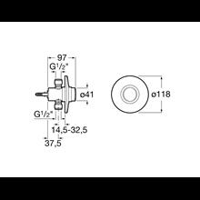 Fluxómetro para encastrar Sprint Roca