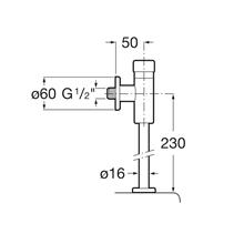 Fluxómetro urinário Confort Aqua Roca