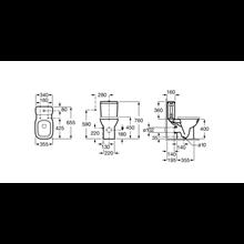 Tanque de sanita ligação lateral Debba Roca