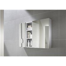 Armário-espelho 40cm branco Luna Roca