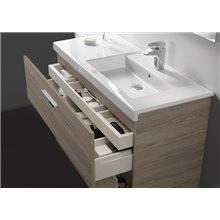 Conjunto de móvel com lavatório e duas gavetas 80 cm branco Prisma Roca