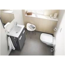 Conjunto móvel Cinzento 70cm compacto duas portas Debba Roca