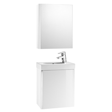Móvel Branco com armário-espelho Mini Roca