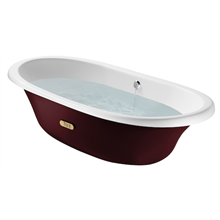 Banheira oval bordeaux Newcast ROCA