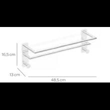 Toalheiro 50 cm duplo com 2 cabides SENSA CO2+