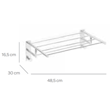 Toalheiro 50 cm com 2 cabides SENSA CO2+