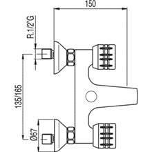Kit de banheira-duche ESE-23 TRES