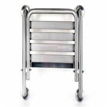 Assento de duche inox rebatível fixo Timblau S