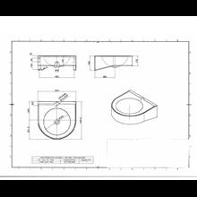 Lavatório de parede pia de Φ36 cm Timblau