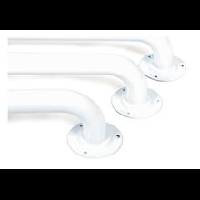 Barra de apoio fixa pintada de branco Timblau