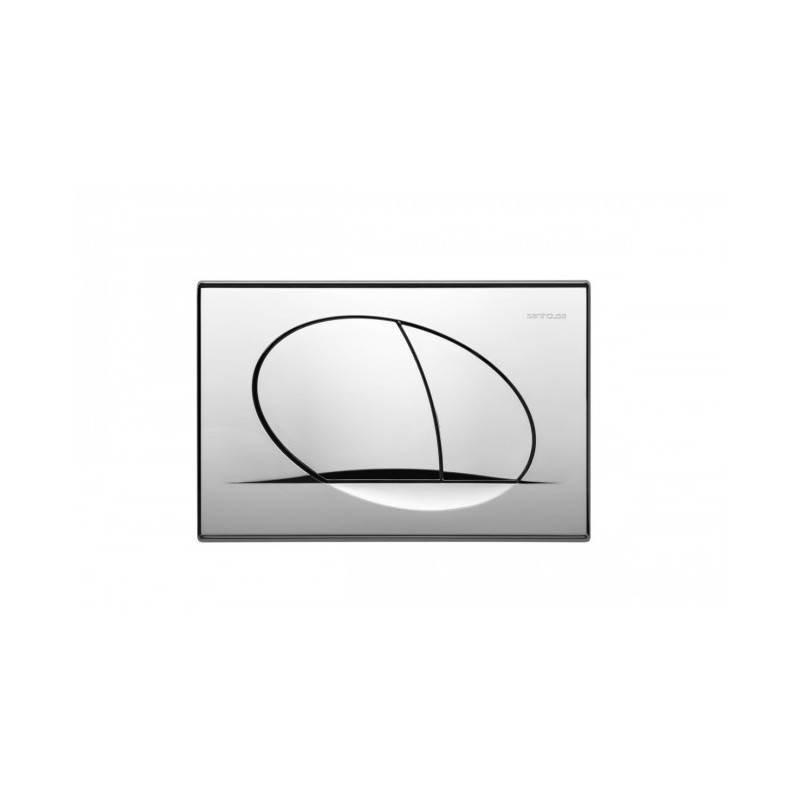 Placa de acionamento cromada ORANGE- Unisan Sanindusa