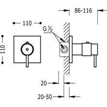 Torneira termostática de encastrar duche Compact Tres