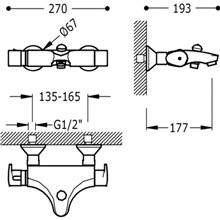 Torneira de banheira-duche termostática BASIC Tres