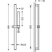 Kit duche barra deslizante PROJECT-SLIM TRES