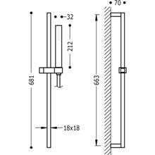 Kit duche barra deslizante CUADRO-SLIM TRES