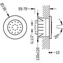Jet encastrado anticalcário circular TRES