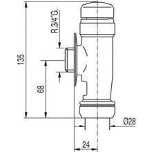 Válvula de descarga temporizada para sanita TRES