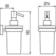Dosificador de sabonete de parede MAX-TRES