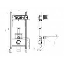 Cisterna QUADRO com suporte - Unisan Sanindusa