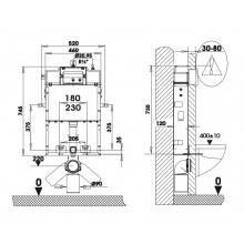 Cisterna SANFLUSH com suporte - Unisan Sanindusa