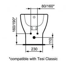 Bidé de chão e de parede TESI Ideal Standard
