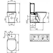 Sanita de parede tanque baixo - Ideal Standard