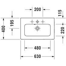 Lavatório de encastrar Compact - DURAVIT