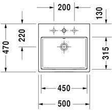 Lavatório de bancada ou mural 50 respiro Vero Air - DURAVIT