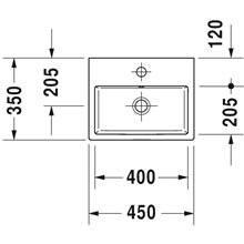Lavatório de bancada ou mural 45 Vero Air - DURAVIT